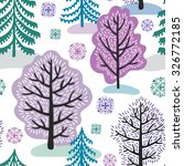 winter forest seamless pattern | Shutterstock .eps vector #326772185