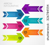 arrow modern infographic design ... | Shutterstock .eps vector #326784554