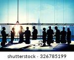 back lit business people... | Shutterstock . vector #326785199
