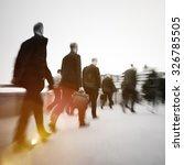 business people commuter... | Shutterstock . vector #326785505
