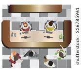 office furniture  reception top ... | Shutterstock .eps vector #326785961