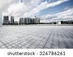empty  modern square and... | Shutterstock . vector #326786261