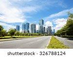 asphalt road of a modern city...   Shutterstock . vector #326788124