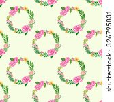 seamless floral pattern   oil... | Shutterstock . vector #326795831