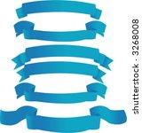 blue banners | Shutterstock .eps vector #3268008