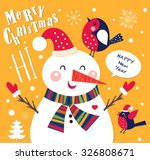 vector cheerful christmas card... | Shutterstock .eps vector #326808671