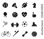 set black icons sports. vector... | Shutterstock .eps vector #326814005