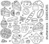 doodle set   coffee  bakery  ... | Shutterstock .eps vector #326814281