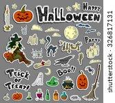 set of halloween elements   Shutterstock .eps vector #326817131