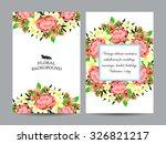 romantic invitation. wedding ... | Shutterstock .eps vector #326821217