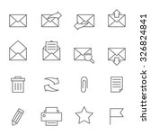 email icons set | Shutterstock .eps vector #326824841
