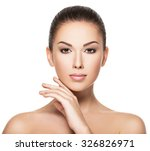 beauty face of the young...   Shutterstock . vector #326826971