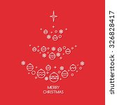christmas card with abstract... | Shutterstock .eps vector #326828417
