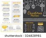 vector christmas restaurant... | Shutterstock .eps vector #326828981