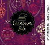 vector christmas restaurant...   Shutterstock .eps vector #326829014