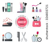 make up flat icons. vector... | Shutterstock .eps vector #326833721