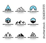 mountains  8  | Shutterstock .eps vector #326834555