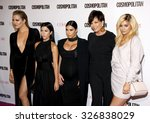 Small photo of Khloe Kardashian, Kourtney Kardashian, Kim Kardashian, Kris Jenner and Kylie Jenner at the Cosmopolitan's 50th Birthday Celebration held at the Ysabel in West Hollywood, USA on October 12, 2015.