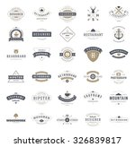 retro vintage logotypes or... | Shutterstock .eps vector #326839817