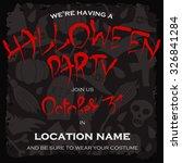 dark template for halloween... | Shutterstock .eps vector #326841284