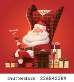 santa in the chair. christmas... | Shutterstock .eps vector #326842289