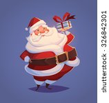 funny santa. christmas greeting ...