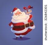 funny santa. christmas greeting ... | Shutterstock .eps vector #326842301
