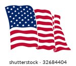 american flag  vector color... | Shutterstock .eps vector #32684404