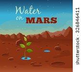 water on mars.  vector... | Shutterstock .eps vector #326846411