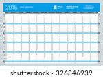 yearly wall calendar planner... | Shutterstock .eps vector #326846939
