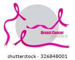 breast cancer awareness pink... | Shutterstock .eps vector #326848001