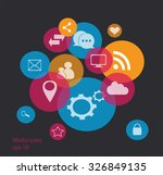 social media icons for... | Shutterstock .eps vector #326849135