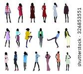 set of fashionable female...   Shutterstock .eps vector #326853551