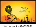 happy halloween background   ... | Shutterstock .eps vector #326853851