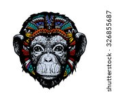 monkey ethnic illustration | Shutterstock .eps vector #326855687