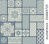 seamless patchwork tile with... | Shutterstock .eps vector #326865725