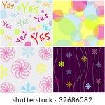 seamless backgrounds   Shutterstock .eps vector #32686582