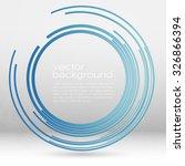 techno vector circle abstract... | Shutterstock .eps vector #326866394