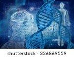 dna and virus molecules on... | Shutterstock . vector #326869559