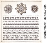 vector set of 25 pattern... | Shutterstock .eps vector #326869985