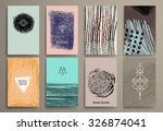 set of vintage  cards with...   Shutterstock .eps vector #326874041