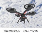3d rendering of a drone in the... | Shutterstock . vector #326874995