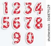a set of numbers with a pattern ... | Shutterstock .eps vector #326879129