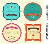creative beige vector set... | Shutterstock .eps vector #326880101