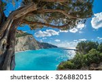 view over porto katsiki beach... | Shutterstock . vector #326882015