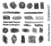 vector set of scribble brushes. ... | Shutterstock .eps vector #326884457