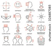 vector set of 16 icons related... | Shutterstock .eps vector #326887085