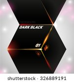 the dark black cube abstract... | Shutterstock .eps vector #326889191