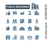 public buildings  houses icons | Shutterstock .eps vector #326893829