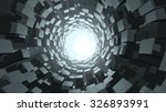 abstract cube wormhole. 3d... | Shutterstock . vector #326893991